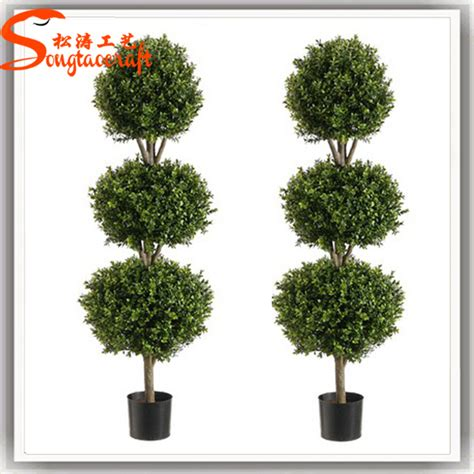 decorative trees for home outdoor artificial fake plastic green grass trees