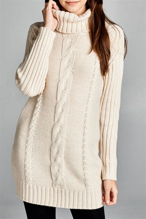 Honey Punch Cable Knit Sweater Dress From Montana By