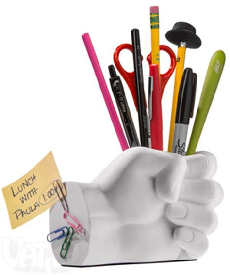 Home Bar Decor Ideas hand pen holder with magnetic back