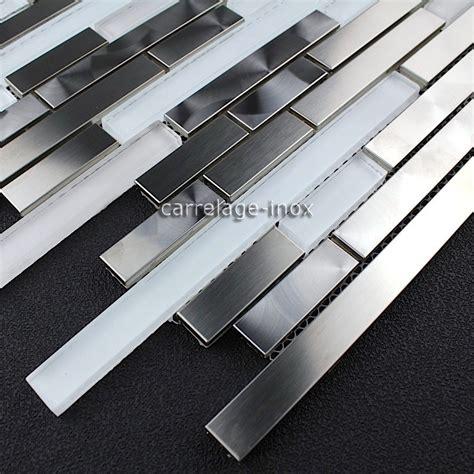 mosaic stainless steel splashback kitchen mosaic shower multi stainless steel wave carrelage