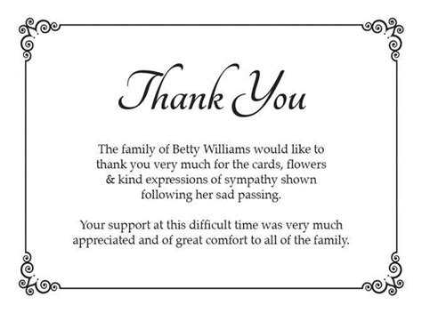 thanking letter after funeral best 25 funeral thank you notes ideas on