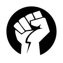 Clipart power fist bw