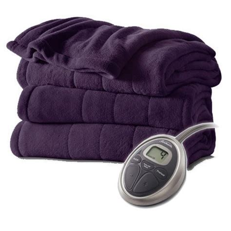 Where To Buy Heated Blankets by Sunbeam Channeled Velvet Plush Electric Heated Blanket