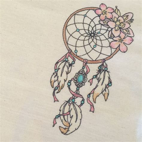 dreamcatcher embroidery design whimsical floral dreamcatcher machine embroidery file design