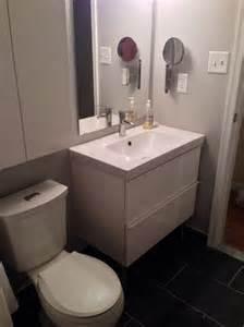 white ikea single wash basin bathroom sink: by white ikea floating washbasin cabinet design over toilet bowl ikea