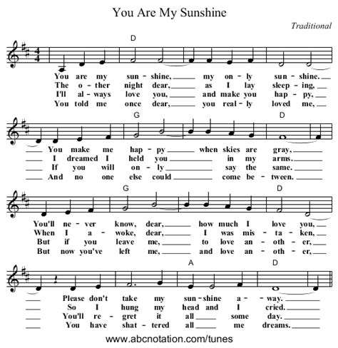 summer c song you are my sunshine with lyrics and you are my sunshine sheet music johnny cash google