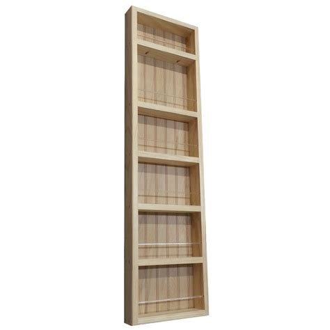 Wall Mounted Wooden Spice Rack Wg Wood Products Midland Premium Wall Mounted Spice Rack