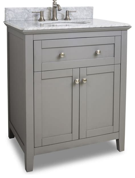 gray chatham shaker vanity with top and bowl traditional