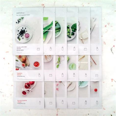 Innisfree Real Mask 100ml innisfree my real squeeze mask mix n match 6 pcs health skin bath on carousell