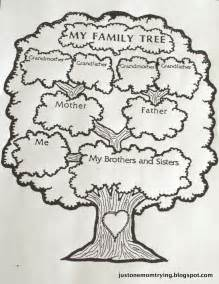 draw a family tree template just one trying