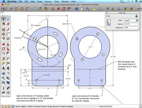 Sketchup Layout Measurements | scaling mount motor electroclassic ev