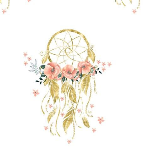 design a dream girl sweet dreams baby girl dream catcher gold 7 quot fabric