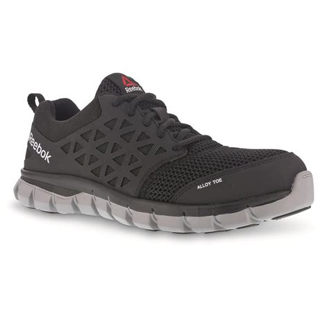 steel toe shoes for flat reebok s sublite cushion composite toe work shoes