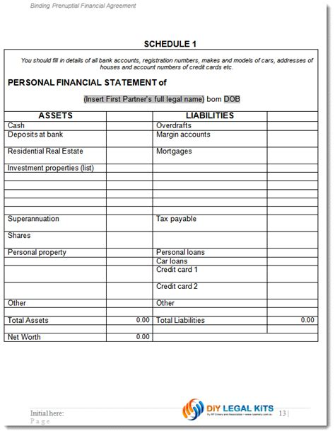 financial agreement made before marriage prenuptial