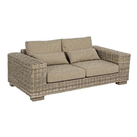mobili divani divano rattan naturale 3 posti etnico outlet mobili etnici