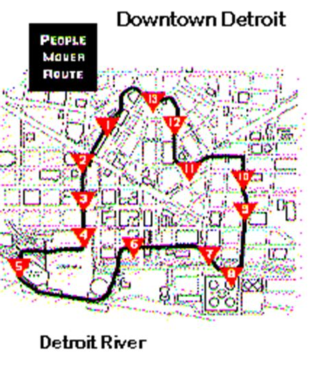 detroit people mover map detroit downtown peoplemover advanced automated urban transit
