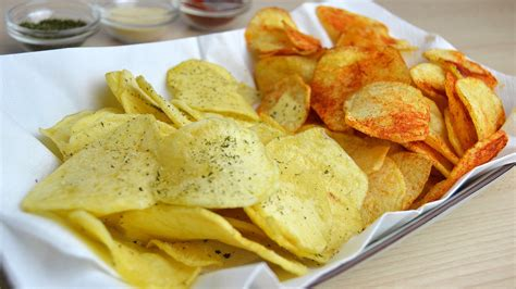 Handmade Crisps - how to make potato chips easy potato crisps