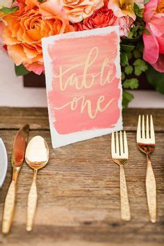 coral colored table ls 1000 ideas about coral wedding colors on