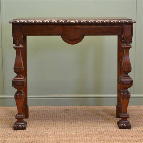 Antique Console Tables Arts Crafts Pitch Pine Antique Console Table C 1890 Loveantiques