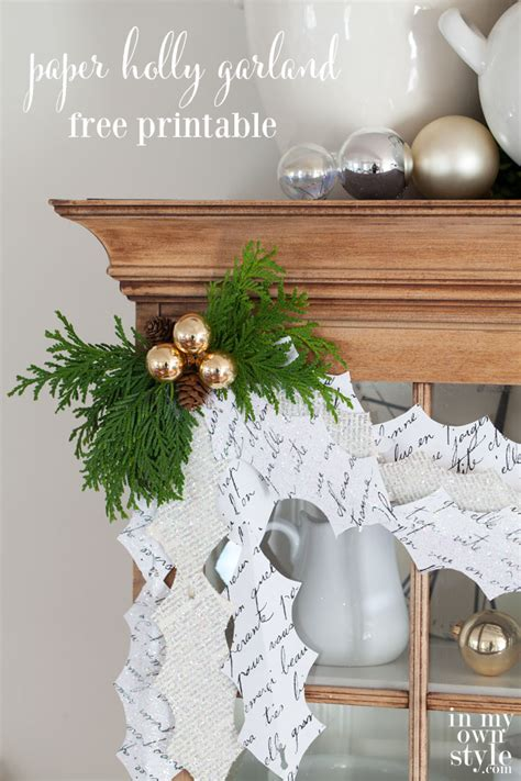 How To Make Garland Out Of Paper - garland paper leaves in my own style