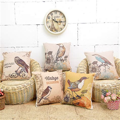 the linen store and home decor aliexpress com buy vintage bird print cushions no inner