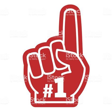 1 fan foam finger number 1 one sports fan foam with raising forefinger
