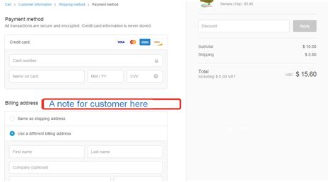 Billing Section by Adding A Note For Customers To A Billing Section Of The