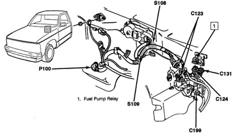 where is the fuel pump relay fuse located on a 1993 chevy