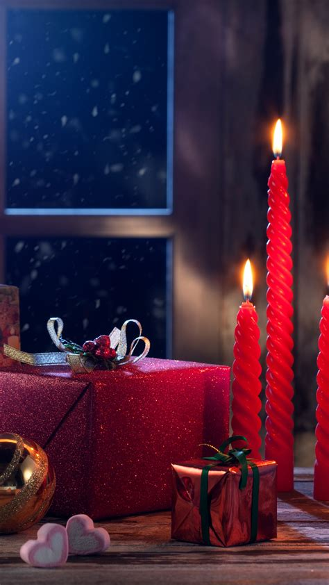 wallpaper christmas eve presents gifts candles decoration  celebrations christmas