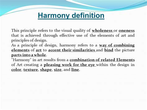 design harmony meaning harmony prepared by dr ahmed azmy ppt video online