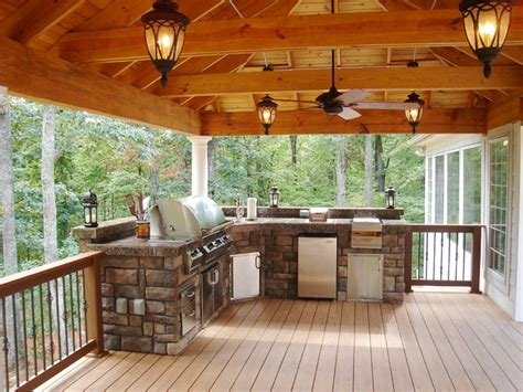Small Bathrooms Remodeling Ideas Rustic Outdoor Entertaining Spacce Rustic Deck Other