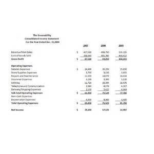 3 year income statement template search results for 3 year income statement template