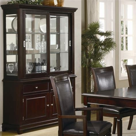 dining room china cabinet hutch coaster ramona formal dining room china cabinet in walnut