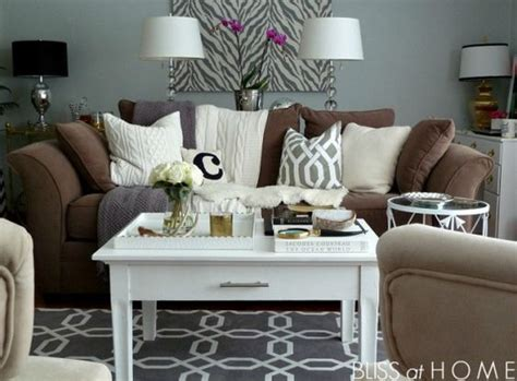 brown sofa living room ideas grey ls grey and tables on pinterest