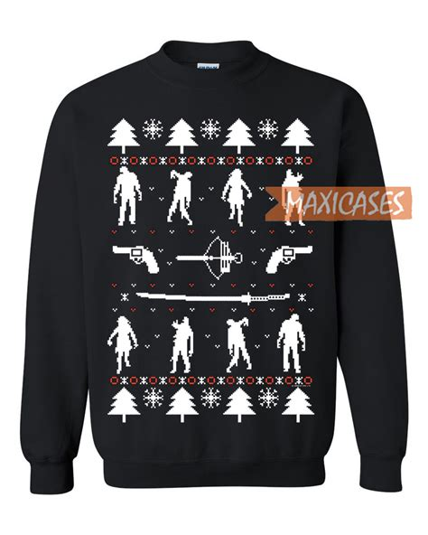 zombie christmas sweater sweater unisex size s to 2xl
