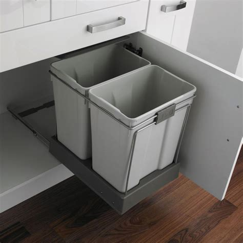 built in trash can cabinet built in trash cans sink trash can kitchen cabinet