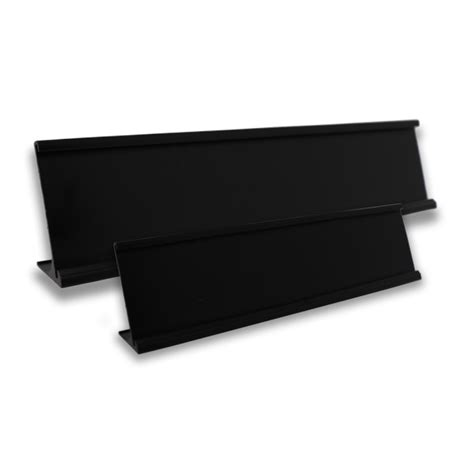 Name Desk Plate by Metal Desk Stands For Name Plates Black