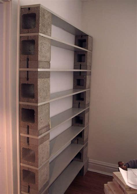 cinder block bookcase bookshelves