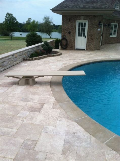 pool deck pavers travertine pool decks are travertine pavers ok for pools