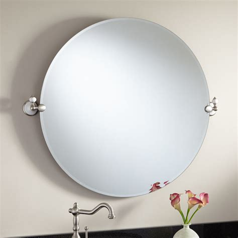 bathroom mirrors adelaide 32 quot adelaide round tilting mirror modern bathroom mirrors