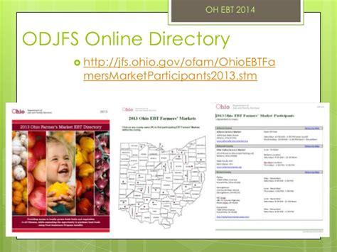 Odjfs Online   ebt 101 by melissa wolfe ohio farmer s market conference 2014