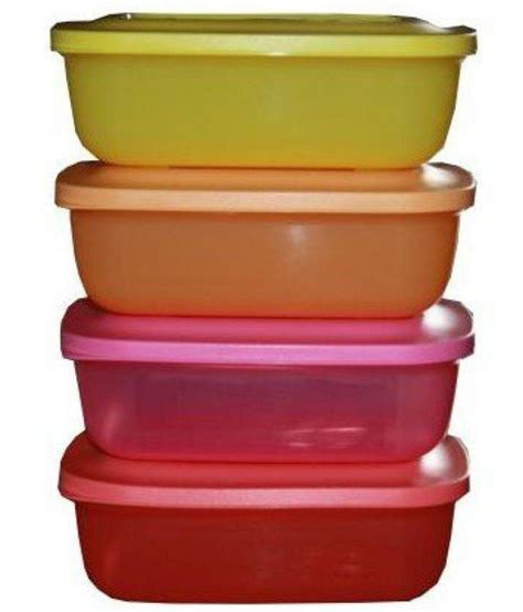 tupperware rectangular lunch mates orange yellow pink available at snapdeal for rs 710