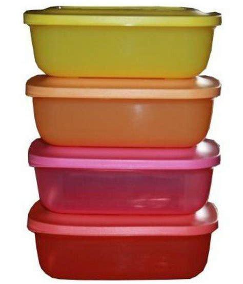 tupperware rectangular lunch mates orange yellow
