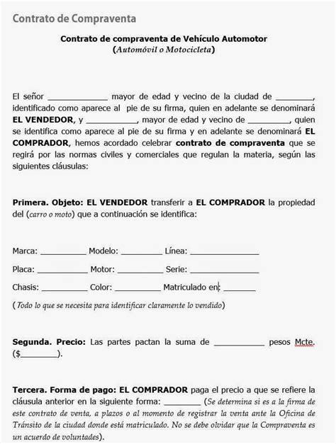 Formato De Compraventa De Carros Y Motos En Word Infodeayuda   formato de compraventa de carros y motos en word infodeayuda