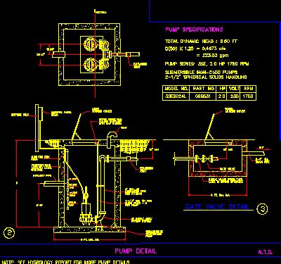 House Plumbing System Drinking Water Pump Dwg Section For Autocad Designs Cad