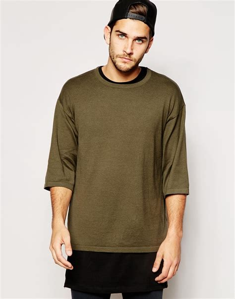 Tshirt Oversize asos oversized knitted t shirt in for lyst