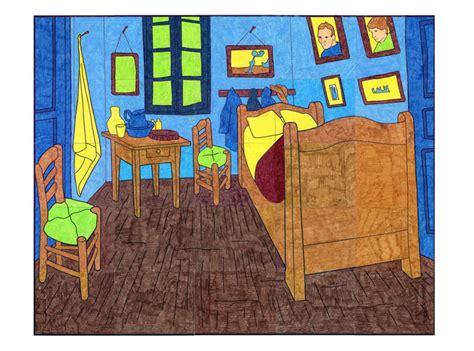 bedroom van gogh van gogh bedroom mural art projects for kids
