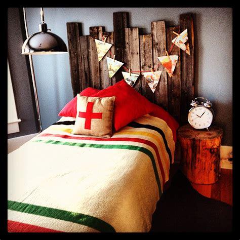 Blanket From The Bedroom by My S Vintage Inspired Bedroom Barnwood Headboard