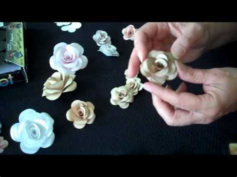 paper flower tutorial cardstock how to make paper roses using white cardstock youtube