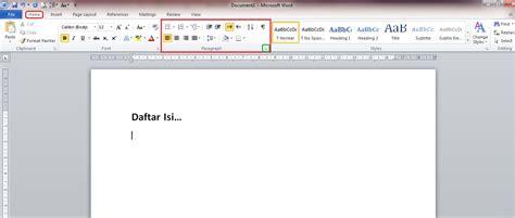 membuat garis titik di word membuat garis titik titik pada daftar isi dokumen word